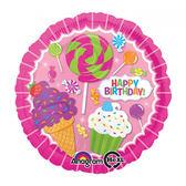 18吋鋁箔氣球(不含氣)-甜點王國