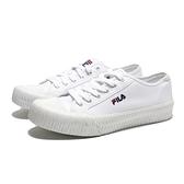 FILA 休閒鞋 全白 帆布鞋 餅乾鞋 情侶鞋 男女 (布魯克林) 4C320T110