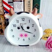 鬧鐘學生小鬧鐘創意鬧鐘可愛卡通小牛鐘錶床頭定時起床鐘 鹿角巷