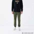 【GIORDANO】男裝素色抽繩束口褲 - 55 軍綠