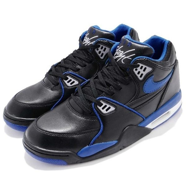 NIKE AIR FLIGHT 89 LE 黑藍 皮革 氣墊 籃球鞋 男 819665-001☆SP☆