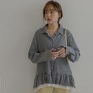 MIUSTAR 雙層百褶寬版襯衫(共2色...