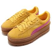 Puma X Fenty Cleated Creeper Suede Wns 黃 咖啡 粉紅 厚底鞋 女鞋 【PUMP306】 36626803