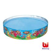 《Bestway》Q版海底世界硬膠泳池(免充氣)(69-13781)