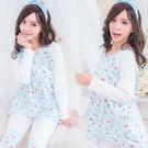冬季棉質睡衣~6色舒柔棉質俏皮睡衣-睡衣+睡褲