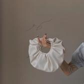 圓形側背包女褶皺云朵小包包休閒軟皮手提包【小酒窩服飾】