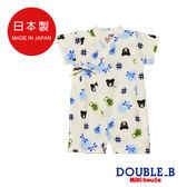 DOUBLE_B 日本製  可愛黑熊甚平連身服(白)