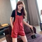 吊帶短褲 背帶褲女2021新款夏季小個子套裝顯高洋氣減齡時尚休閒短褲兩件套 韓國時尚 618