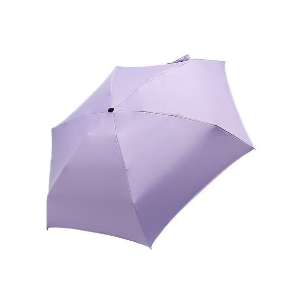 摺疊傘 現貨 折疊傘 雨傘 迷你 口袋傘 黑膠 兩用 袖珍 超輕六骨摺疊傘 ✭米菈生活館✭【E93】