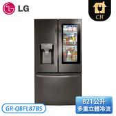 [LG 樂金]821公升 InstaView WiFi敲敲看門中門冰箱 GR-QBFL87BS
