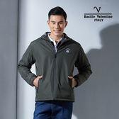 Emilio Valentino范倫鐵諾經典防風鋪棉保暖外套(墨綠)