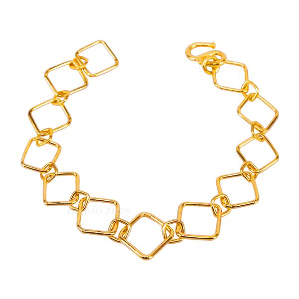 漫時光-方型黃金手鍊-日好