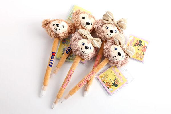 【發現。好貨】Disney迪士尼duffy達菲熊shelliemay熊熊卡通毛絨筆 原子筆 可愛大頭筆