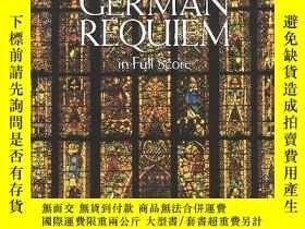 二手書博民逛書店German罕見Requiem In Full ScoreY256260 Johannes Brahms Do