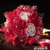 拾錦結婚用品韓式新娘手捧花唯美仿真玫瑰花球婚紗攝影道具花魔方數碼館