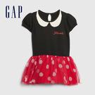 Gap嬰兒 甜美風格拼接紗裙洋裝 593670-正黑色