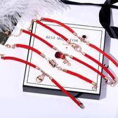 轉運珠小豬紅繩手練女本命年好運手繩18K玫瑰金新年禮物韓版簡約 台北日光