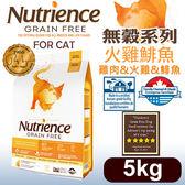 PetLand寵物樂園《Nutrience紐崔斯》無穀養生系列貓糧(雞肉+火雞+鯡魚)5kg/貓飼料