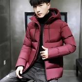 男士外套冬季棉衣2019新款韓版衣服短款連帽男裝羽絨棉服棉襖冬裝 伊衫風尚