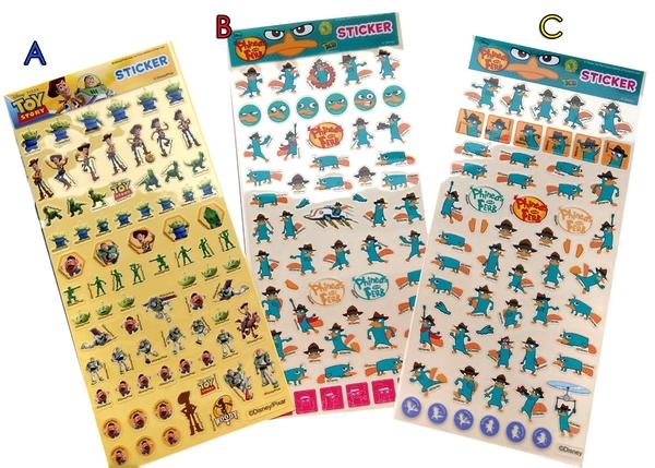 【卡漫城】貼紙 任選 2 張 ㊣版 飛哥與小佛 泰瑞 Ferb 玩具總動員 Toy Story 胡迪 巴斯光年