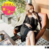 《DA5957-》領口銀蔥拼接V領滾邊洋裝 OB嚴選