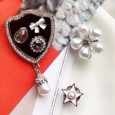小香風胸花日正韓配飾奢華外套別針開衫裝飾品大氣徽章珍珠胸針女
