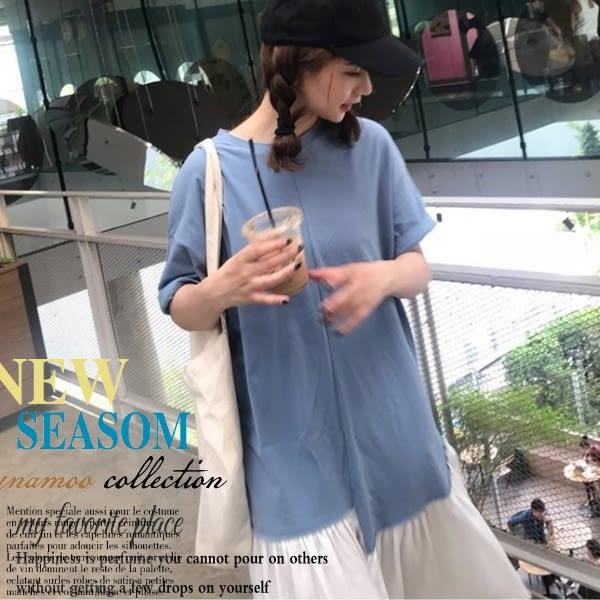 *桐心媽咪.孕婦裝*【CC0033】清新高雅.造型裙襬連衣裙-藍色