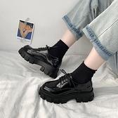 英倫風小皮鞋女日系jk2020新款厚底黑色單鞋韓版百搭秋冬加絨女鞋 【雙十一狂歡購】