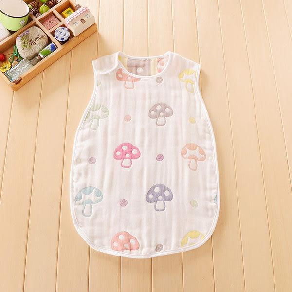 寶寶磨菇紗布防踢被/背心睡袋/嬰兒睡袋(大童)(AX50321) *繪米熊童裝*