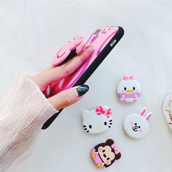 【SZ34】抖音同款手機氣囊支架 可伸縮 卡通矽膠 可愛創意個性防摔 iPhoneX 三星 華碩 OPPO HTC通用