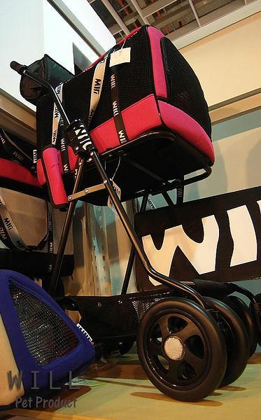WILL設計 + 寵物用品 萬搭設計 雙層可拆式推車*WB02*超透氣網款☆黑網X桃
