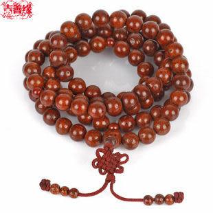 天然精品108顆佛珠佛教星月菩提圓珠念珠(大)