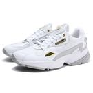 ADIDAS 休閒鞋 ORIGINALS FALCON 白 金 皮革 網布 老爹鞋 女 (布魯克林) FV5091