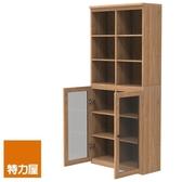 組-特力屋萊特高寬淺木櫃.淺木層板(1入x8).淺玻門(x2)