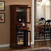 錦莊紅酒櫃子冷藏實木家用客廳冰吧儲存恒溫酒櫃紅酒保溫櫃高端 8號店WJ