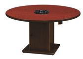 火鍋桌(白石.紅寶)(木心板/美耐板面/高2.5尺)(含爐架) 770-15 5尺 H2.5尺