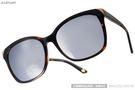 【JILL STUART 太陽眼鏡】韓系大框金屬邊-琥珀框-水銀鏡面(#JJS55026 C02A)