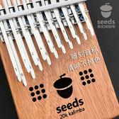 拇指琴 双层20音拇指琴seeds全单板卡林巴手指琴kalimba初学入门乐器 夢藝家