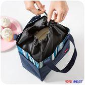 保冷袋 飯盒袋 手提包 韓版 清新保溫 防水帆布飯袋 帶飯的便當包