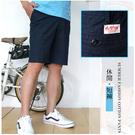 【大盤大】(A269) 男短褲 深藍 五分褲 圓點休閒褲 薄款 口袋 運動 顯瘦 薄款工作褲【M和L號斷貨】