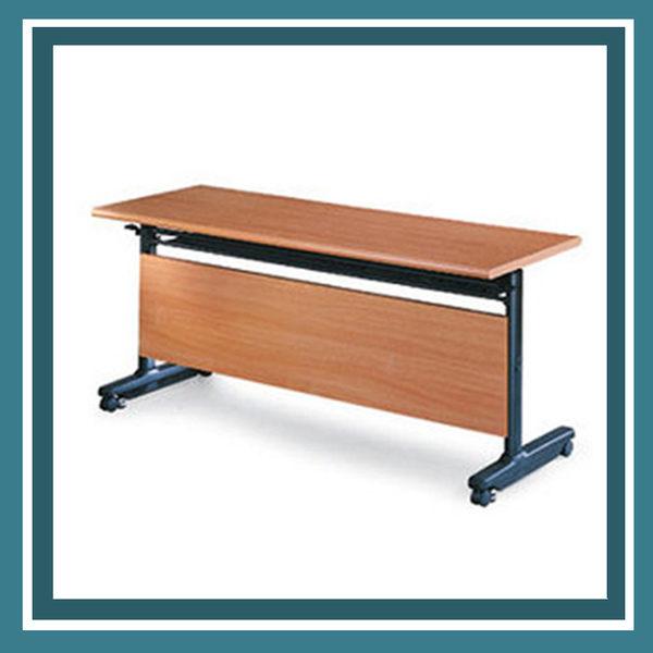 【必購網OA辦公傢俱】PUT-1560H 櫸木紋 折合式 會議桌
