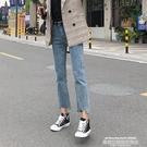 秒殺牛仔褲牛仔褲女2020秋季新款高腰顯瘦寬鬆闊腿小個子泫雅九分直筒褲