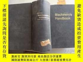二手書博民逛書店機械手冊Machinery s罕見Handbook(英文)Y20