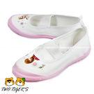 日本月星 MoonStar 白/粉色 冰雪奇緣 舒適學生鞋 帆布膠底 室內鞋 NO.R0938