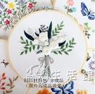 手工緣刺繡花卉韓版初級入門歐式十字古風簡約手作布藝diy材料包 小時光生活館