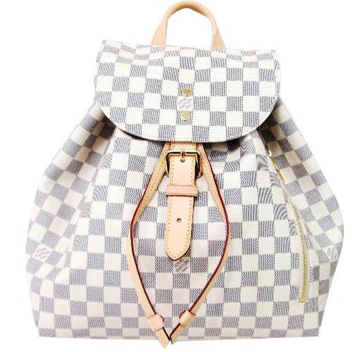 Louis Vuitton LV N41578 Sperone 白棋盤格紋後背包 全新 預購【茱麗葉精品】