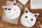 【堯峰陶瓷】餐桌系列 手工窯燒9吋趣味貓咪造型盤 大盤子 餐盤 平盤 親子趣味盤