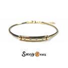 Sassy Ones時尚飾品 - 時尚黑金雙色簡約設計款手鍊