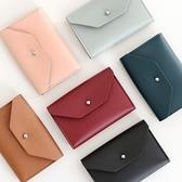 韓國funnymade時尚商務純色皮革手拿便攜男女生卡包名片夾包