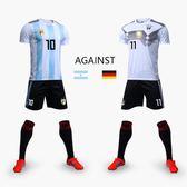 巴西隊內馬爾2018世界盃球衣阿根廷梅西T恤法國足球套裝訓練服男 芥末原創